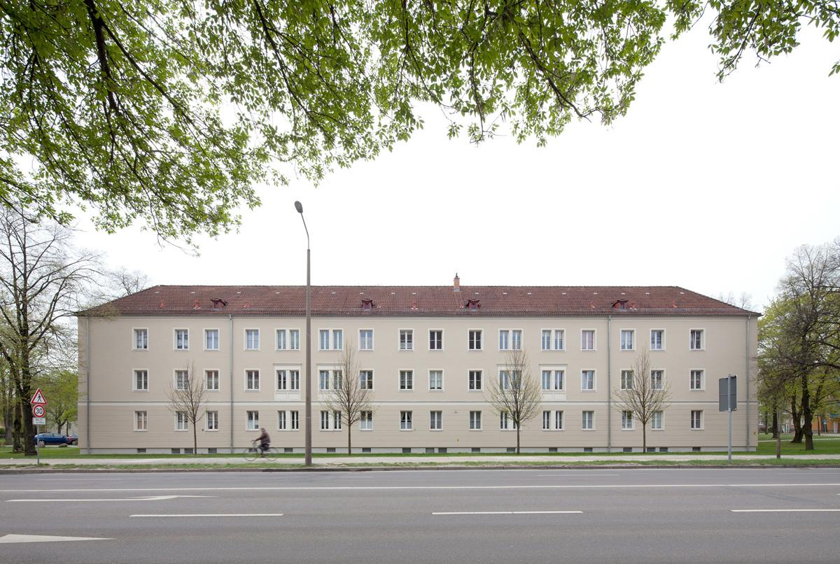 Mehrfamilienhäuser aus den 1950er-Jahren in Cottbus