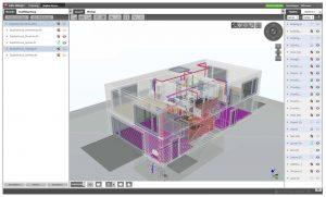 Virtuelles Gebäudemodell.